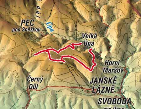 1. Krkonošská cyklistická naučná stezka (horské kolo) * Krkonoše